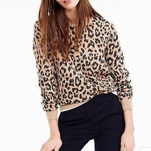 J Crew Merino Wool Leopard Sweater